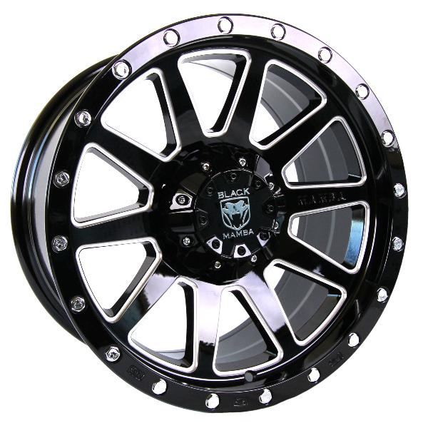 Black Mamba M-12 Gloss Black with Milling wheel